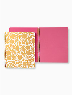 golden floral large spical notebook by kate spade new york