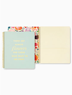 always flowers large spiral notebook by kate spade new york