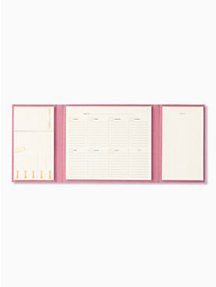 golden floral weekly calendar & folio by kate spade new york