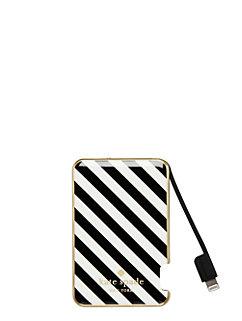stripe slim battery bank by kate spade new york