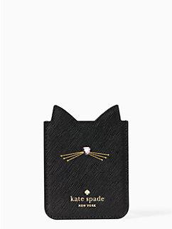 embellished cat sticker pocket by kate spade new york