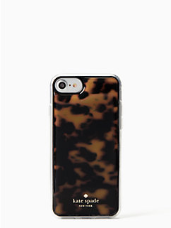 tortoise shell hands free iphone 7 & 8 case by kate spade new york