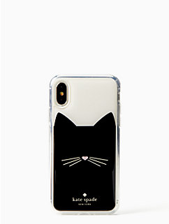 cat hands free iphone x case by kate spade new york