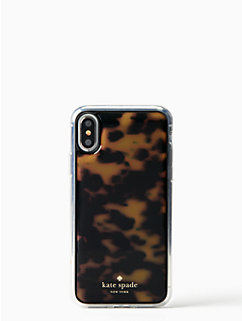 tortoise shell hands free iphone x case by kate spade new york