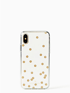 glitter scatter dot iphone x case by kate spade new york