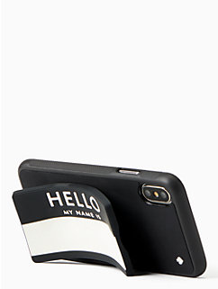 hello iPhone X stand case by kate spade new york