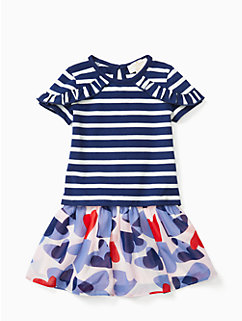 infant confetti hearts skirt set by kate spade new york