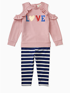 infant love legging set by kate spade new york