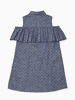 girls cold shoulder ruffle dress by kate spade new york