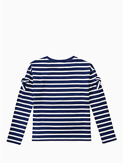girls bow cold shoulder tee by kate spade new york