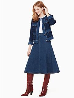 denim tweed jacket by kate spade new york