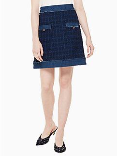denim tweed skirt by kate spade new york