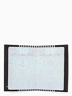 cat's meow passport holder by kate spade new york