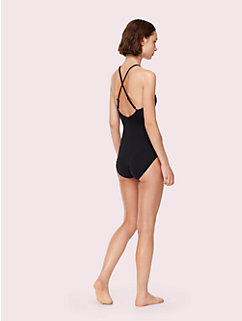 marina piccola high neck one-piece swimsuit by kate spade new york